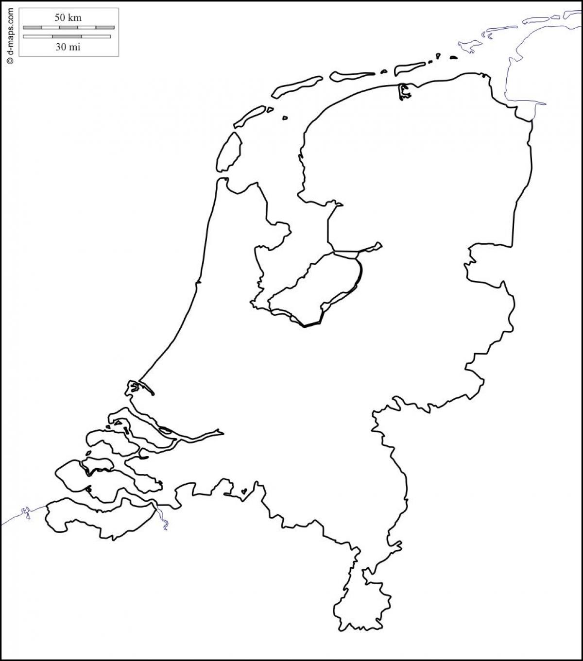Heloohaloo 74 Mooi Blanco Kaart Van Nederland